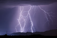 Arizona Monsoon Lightning 2010a Royalty Free Stock Photography