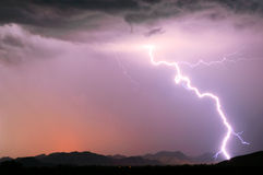 Arizona Monsoon Lightning 2012E Stock Photo