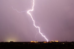 Arizona Monsoon Lightning 2012F Royalty Free Stock Photo