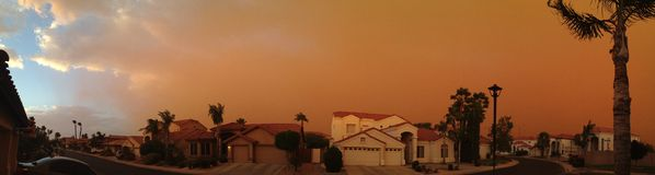 Arizona-Monsun Stockbilder