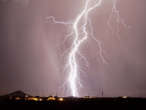 Arizona-Monsun-Blitz 2007 Stockfotos