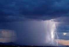 Arizona-Monsun-Sturm 2006 Stockfoto