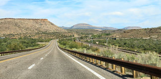 arizona monument open road to valley Στοκ Εικόνες