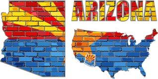 Arizona na ściana z cegieł Zdjęcia Royalty Free