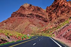Arizona-Navajo-Land-Landstraße - USA Stockfoto
