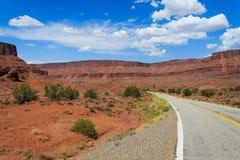 Arizona-Navajo-Land-Landstraße - USA Stockfoto