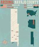 Arizona: Navajo okręg administracyjny ilustracji