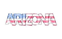 arizona Nombres aislados del estado de los E.E.U.U. stock de ilustración