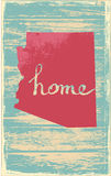Arizona nostalgic rustic vintage state vector sign. Rustic vintage style U.S. state poster in layered easy-editable vector format Stock Photos