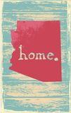 Arizona nostalgic rustic vintage state vector sign. Rustic vintage style U.S. state poster in layered easy-editable vector format Royalty Free Stock Photos