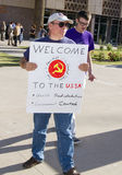 arizona obamaprotest arkivbilder
