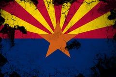 Arizona oxidado y ejemplo de la bandera del grunge libre illustration
