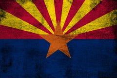 Arizona oxidado y ejemplo de la bandera del grunge ilustración del vector