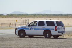 Arizona Patrol. Editorial use only: Route 66, Arizona, USA - June 6, 2011: Highway Patrol, police working on the road Royalty Free Stock Photo