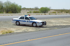 Arizona Patrol. Editorial use only: Route 66, Arizona, USA - June 6, 2011: Highway Patrol, police working on the road Stock Photo