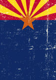 Arizona poster. A grunge vertical flag of arizona for your publicity stock illustration