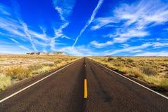 Arizona pustyni autostrada zdjęcie stock
