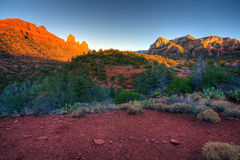 Arizona Red Rocks. Beautiful view of Arizona Red Rocks before sunset. HDR image Royalty Free Stock Photos