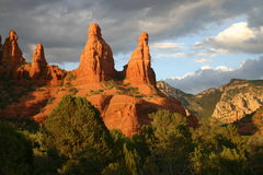arizona red vaggar sedona Fotografering för Bildbyråer