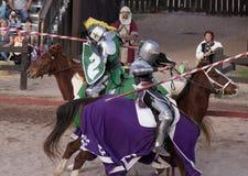 Arizona renässansfestival som Jousting Royaltyfri Fotografi