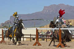 Arizona renässansfestival som Jousting Royaltyfria Bilder