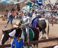 Arizona renässansfestival som Jousting Royaltyfri Bild