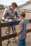 Arizona renässansfestival som Jousting Royaltyfria Foton