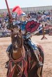 Arizona renässansfestival som Jousting Arkivfoto