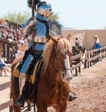 Arizona renässansfestival som Jousting Arkivfoton