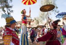 Arizona-Renaissance-Festival-Entertainer lizenzfreies stockbild