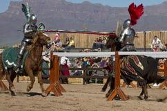 Arizona Renaissance Festival Jousting Stock Photography