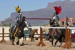 Arizona Renaissance Festival Jousting. Actors and participants of the Arizona Renaissance Festival Stock Images