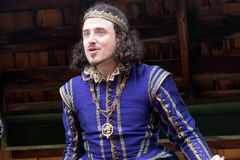 Arizona Renaissance Festival Royalty. A prince welcomes visitors to the Arizona Renaissance Festival Stock Images