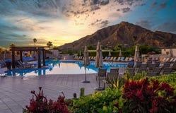 Free Arizona Resort With Pool And Mountain Stock Photos - 204505473