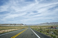 Arizona Roadtrip. Looking down the road on a roadtrip Royalty Free Stock Image
