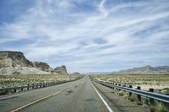 Arizona Roadtrip. Looking down the road on a roadtrip Stock Photo