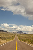 Arizona's Bagdad Road (SR 96) Royalty Free Stock Images