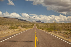 Arizona's Bagdad Road (SR 96) Stock Photography