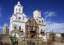 Arizona's San Xavier del Bac Spanish Mission Royalty Free Stock Images