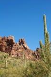 Arizona's Superstition Mountains Stock Photo