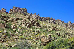 Arizona's Superstition Mountains Stock Images