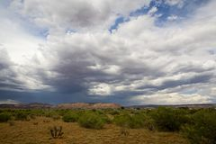 Arizona Scene_01. A spring storm approaching in Arizona Royalty Free Stock Photo