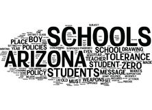 Arizona Schools Did They Overreact Word Cloud Concept Royalty Free Stock Photography