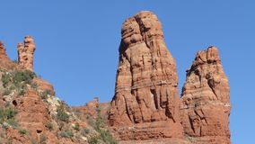 Arizona, Sedona, A close view of the Two Nuns located east of the Chapel of the Holy Cross