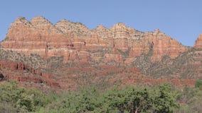 Arizona, Sedona, A pan across a large mountain range just east of Sedona