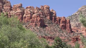 Arizona, Sedona, A view of Coffeepot Rock in Sedona from the west side