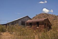 Arizona Shacks. Shacks behind Oatman, Arizona. with mountains royalty free stock photos
