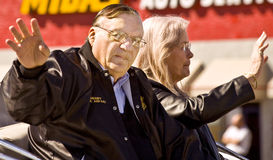 Arizona Sheriff Joe Arpaio. America's Toughest Sheriff Joe Arpaio in the Parada Del Sol (called world's largest horse drawn parade) held in February in Stock Images