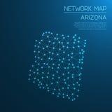 Arizona sieci mapa Obrazy Royalty Free