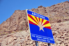Arizona sign at Hoover dam Royalty Free Stock Image